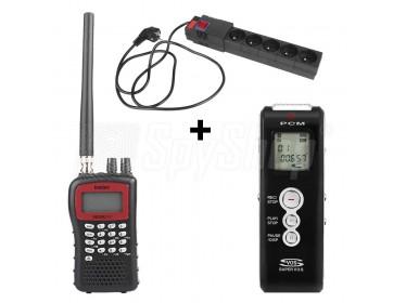 WSR-2 wiretap recording set hidden in UE-type extension plug