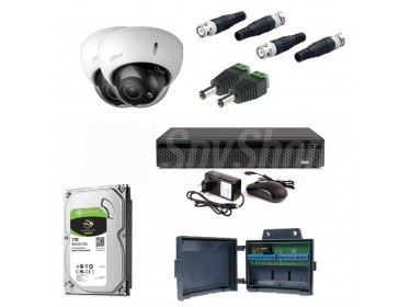 CCTV camera kit Dahua HDCVI VF-27135-S3 for 24/7 day and night monitoring with water-resistance certificate
