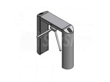 Turnstile gate SecureSCAN XL-Pass for controlling pedestrians made of stainless steel