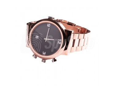 Hidden camera watch WW144 with full HD resolution and a built-in memory for discreet audio video recording