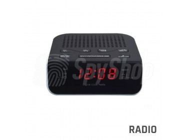 Audio surveillance bug discreetly concealed in an alarm clock with Quartz stabilization