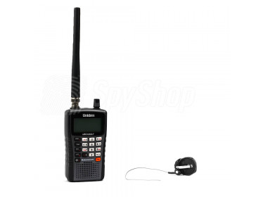 UBS-01 eavesdropping kit with a mini bug and Uniden scanner