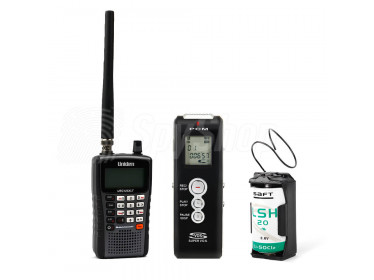 Surveillance kit for discreet eavesdropping WSR-1 with wireless bug, scanner and voice recorder