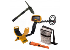 MASTER Treasure Hunting kit - Garrett Ace 150 / Garrett Pro Pointer AT / Treasure bag / Shovel with a compass
