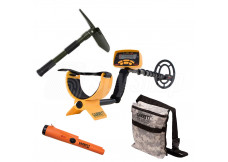 UNIVERSAL Treasure Hunting KIT - Garrett Ace 250 / Garrett Pro Pointer AT / Treasure bag / Shovel with a compass