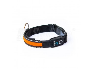 Dog collar for the Tractive GPS Tracker with LED diodes