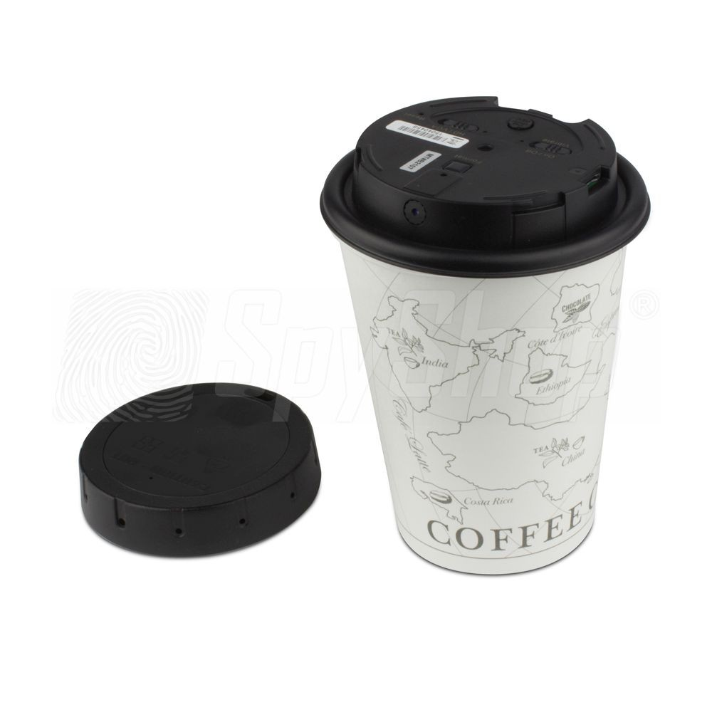PV-CC10 hidden spy camera in a coffee cup