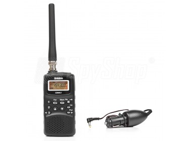 Airband radio scanner - Uniden EZI33XLT with a car adapter