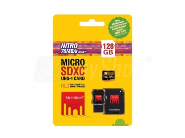 Memory card Strontium microSDHC 128GB with quick transfer 70MB/s