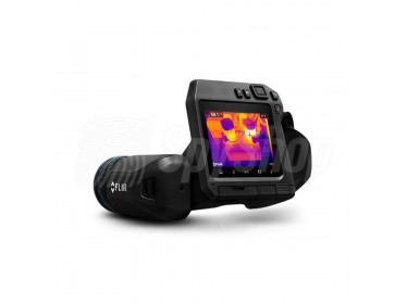 Flir thermal camera T530/540 with a laser range finder and revolving lens