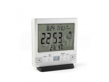 Pir spy camera PV-TM10FHD hidden in multifunctional clock with thermometer