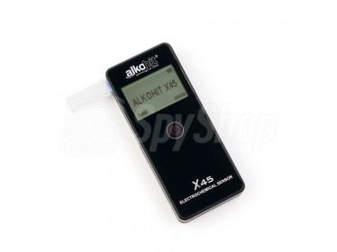 Portable breathalyzer Alkohit X45 with sensitive sensor and LCD screen