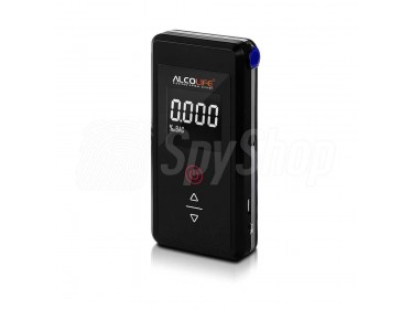 Digital electrochemical breathalyser AlcoLife Classic F2 for personal use with tests memory function