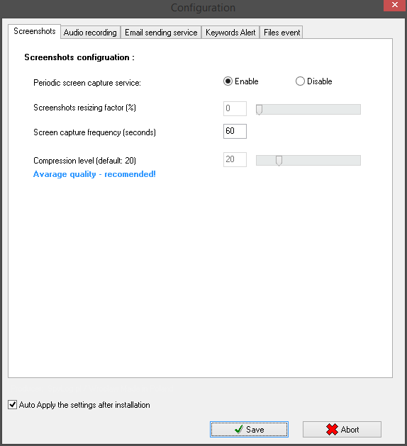 SpyLogger Classic Plus - advanced keylogger software for parental control