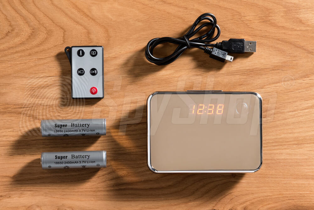 Alarm clock DCR-232 with camera for home