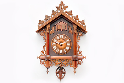 Mini camera in a cuckoo clock